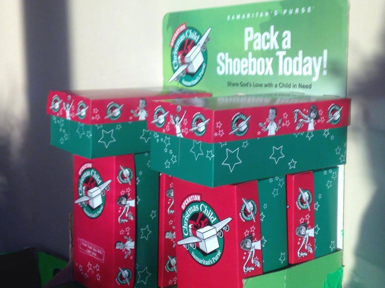 Churches collecting shoeboxes this week
