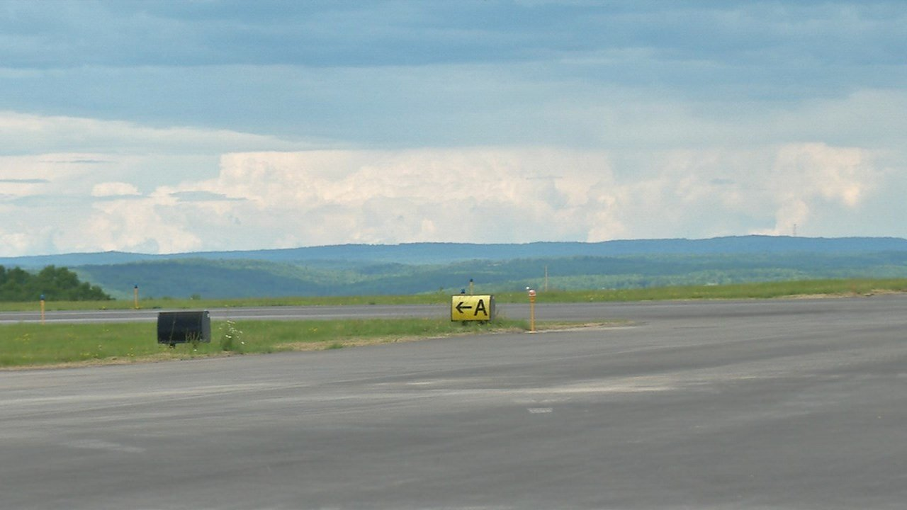 View from Runwway 16/34 at the GB Airport