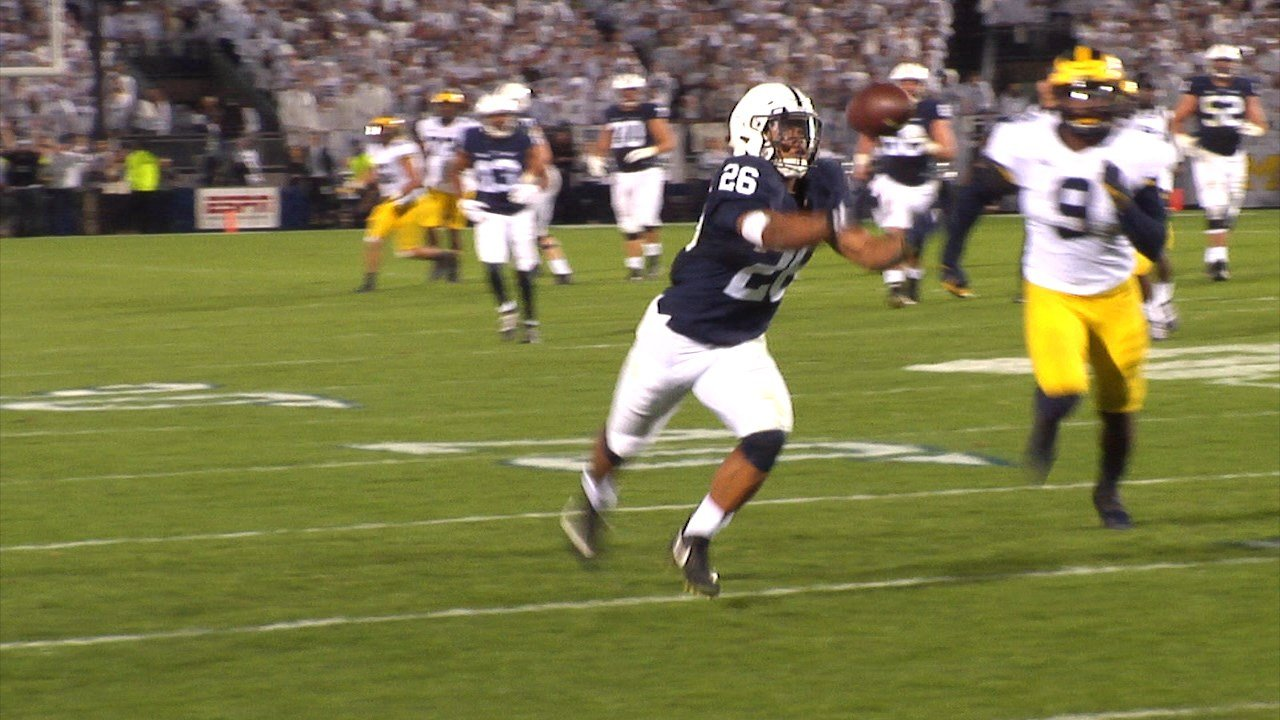 Historic game for Penn State, Saquon Barkley against MI