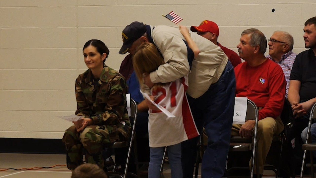 Peninsula School Honors Veterans at Take a Veteran to School Day Event