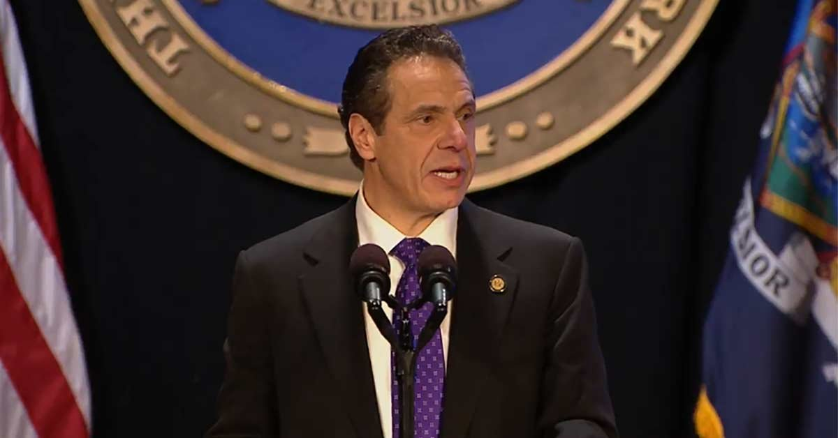 On Jan. 3, 2018, Gov. Andrew Cuomo delivers his eighth state of the state address in Albany.