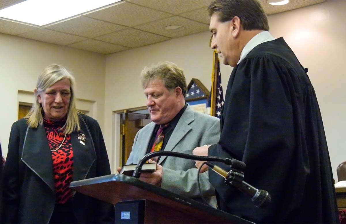 Jan. 1 2016 Rose Sotak is sworn in for a third term as Union Supervisor.