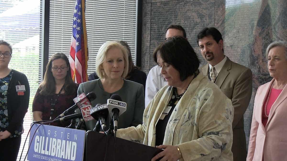 Sen. Kirsten Gillibrand and Lourdes CEO Kathy Connerton