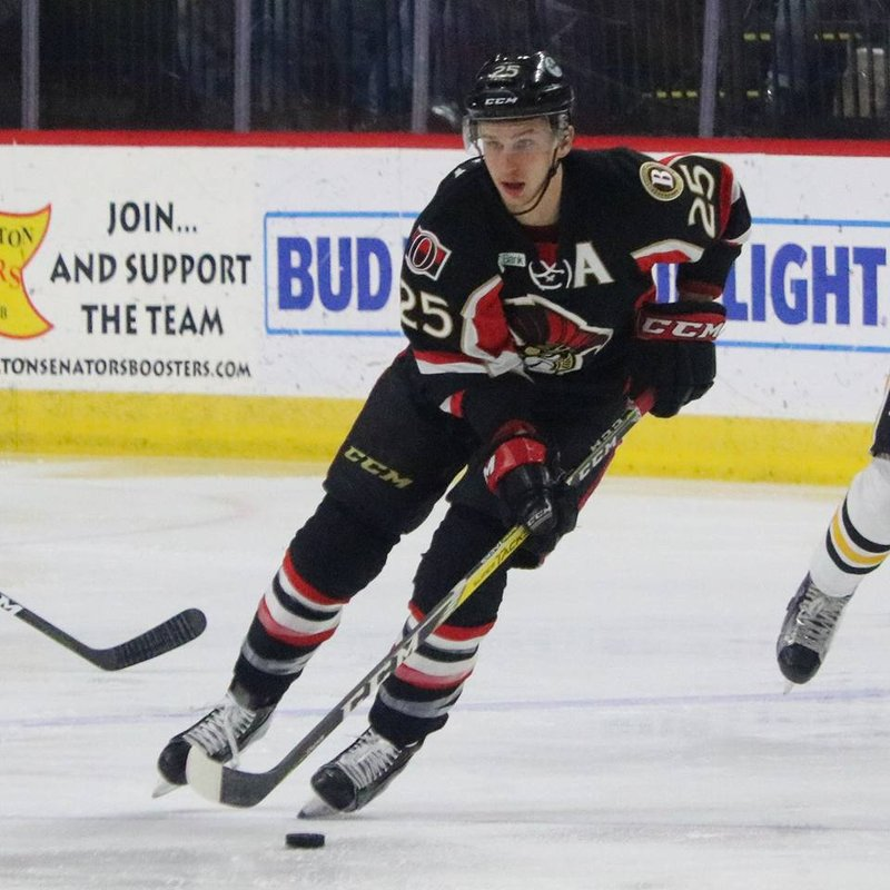 Bailey To Represent B Sens In Ahl All Star Game Fox 40 Wicz Tv