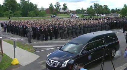 Funeral Held for Fallen New York State Trooper Joel Davis