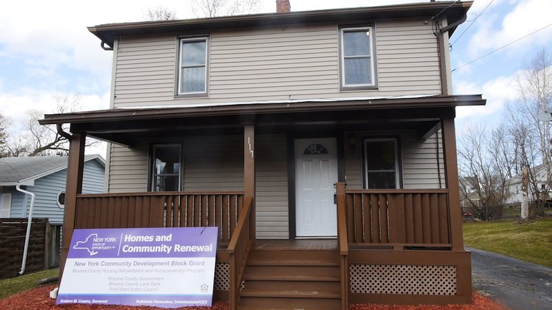 Broome County Land Bank Unveils Two Newly Renovated Homes