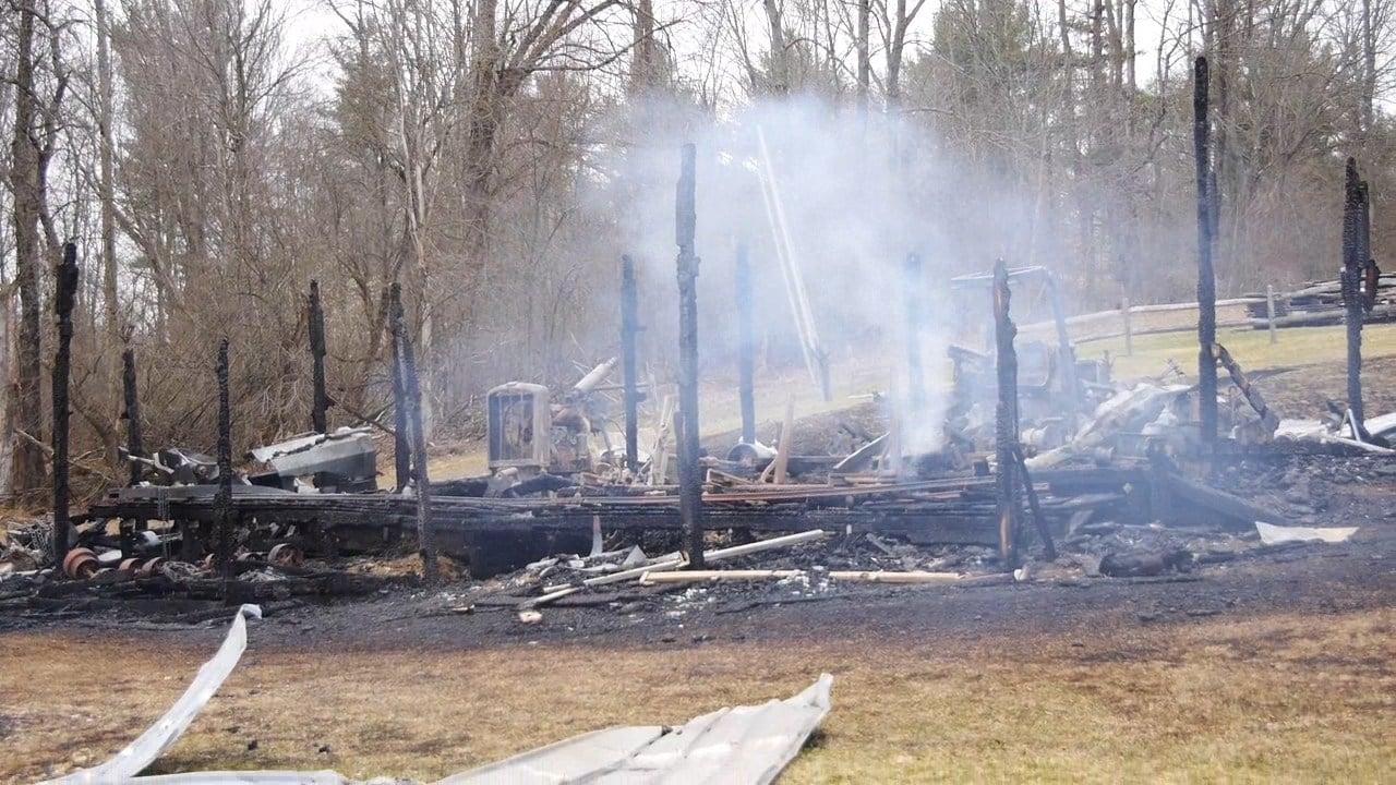 Fire Destroys Barn Owned By Greene Broom Maker - FOX 40 WICZ TV
