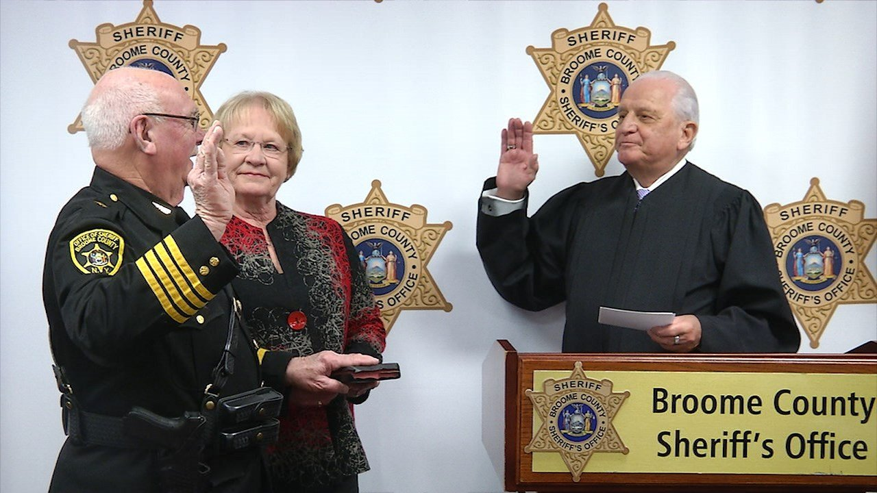 Broome County Sheriff David Harder Sworn in for Sixth Time
